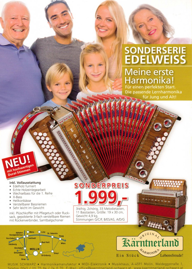 Kärntnerland, немецкая гармонь