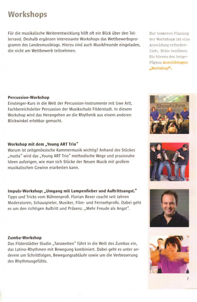 Landes Musiktag. Конкурс в Германии