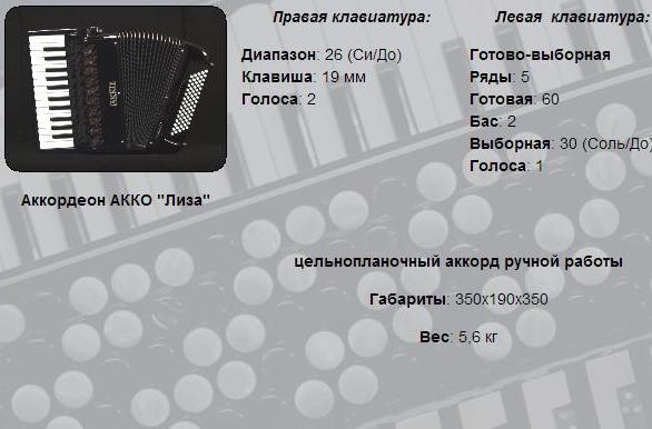 АККО.   Аккордеон Лиза